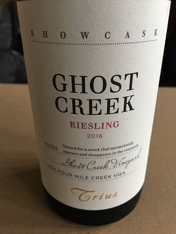 Trius Showcase Ghost Creek Riesling 2016