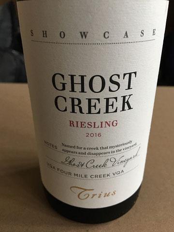Trius Showcase Ghost Creek Riesling 2016