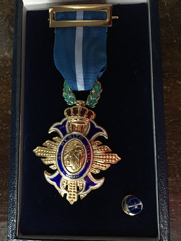 The medal in its case