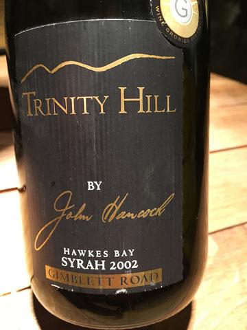 Trinity Hill by John Hancock, Hawkes Bay Gimblett Road Syrah 2002