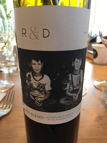 Culmina R & D Blend 2015; label includes a photograph of the Triggs twins as boys