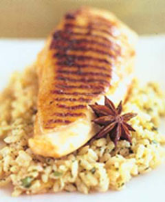 Star Anise Chicken Fillet with Ginger Risotto || Tony Aspler, the Wine ...